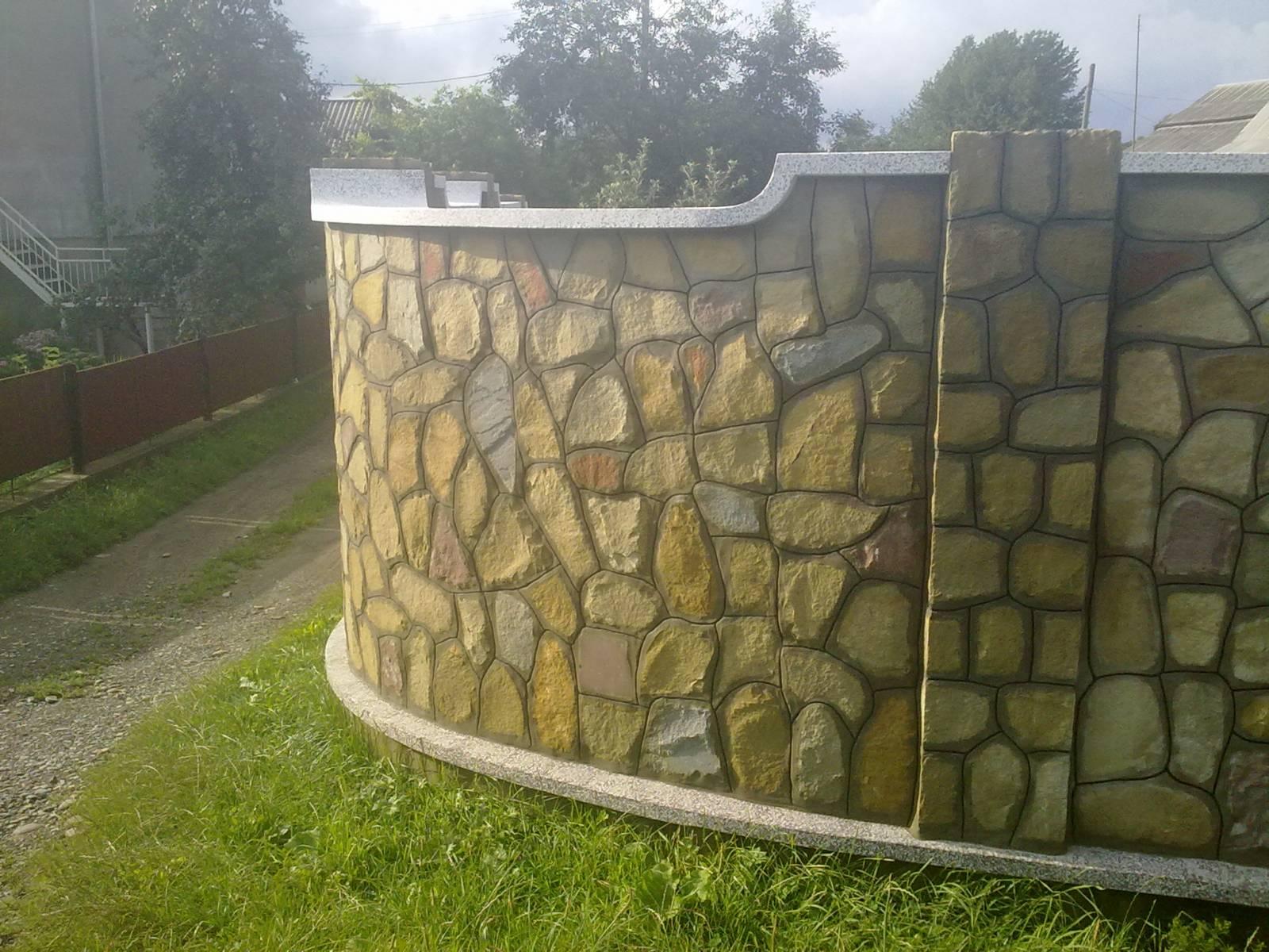 Забор из камней своими руками фото 58